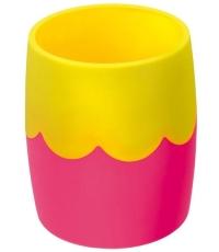 Стакан офисный двухцветный розово-желтый СН502